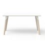 P511M - Table rectangulaire Evasion 140 x 80 cm blanc