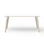P511N - Table rectangulaire Evasion 160 x 80 cm blanc